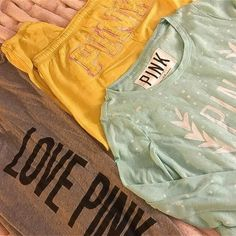 Pink Love, Vs Pink, Boyfriend Sweatpants, Pink Workout, Victoria, Times, Pullover, Gray, Yellow