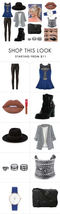 """""""Alexia Outfit 01"""" by taylor-ross115 on Polyvore featuring rag & bone, River Island, Lime Crime, Betani, Maison Michel, WithChic, LULUS and Serapian"""