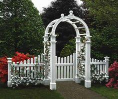 Holz Gartentür-weiß Gartengestaltungideen