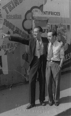 Salvador Dali and Man Ray, 1934.