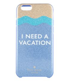 Kate Spade Smartphone cover iPhone 6 Case I need a vacation glitter Iphone Cases For Girls, Iphone Cases Cute, Smartphone Covers, Kate Spade Iphone, Vintage Hipster, Ipod Touch, Prints, Iphone6, Accessories
