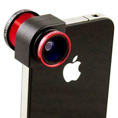 Met de iPhone 3-in-een fotolens is het mogelijk om fisheye-, macrolens en wide-angle foto's te maken. Binnen enkele seconde kun je de fotolens op je iPhone bevestigen om op deze manier nog betere afbeeldingen te maken. $19.90