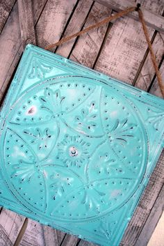 Turquoise/Aqua Blue Magnetic Board Office by SoPurdyCreations, $27.00