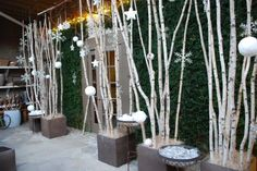 LET'S STAY: Birch Poles & Branches in interiors : Green Decor ...