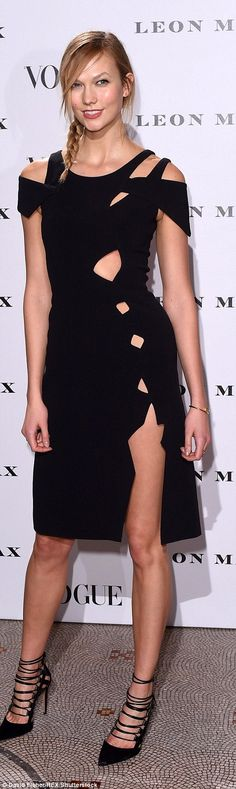 Pin control: The beauty showed off her catwalk queen legs in the split detail number, and ...
