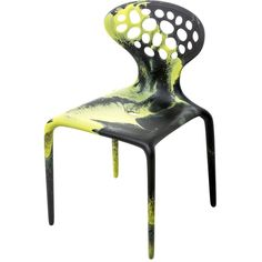 Moroso Home Limit.ed Supernatural Set Of 4 Chairs (4,405 ILS) ❤ liked on Polyvore featuring home, furniture, chairs, accent chairs, colored furniture, moroso furniture, colored chairs, stacking chairs and moroso
