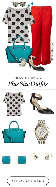 """Plus Size - Bold Work Outfit"" by alexawebb on Polyvore featuring MICHAEL Michael Kors, J.Crew, SonyaRenée, Humble Chic, Anne Klein, women's clothing, women, female, woman and misses"