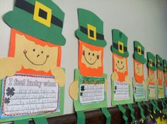 ST PATRICKS DAY: St. Patrick's Day craftivity and writing idea. So cute!