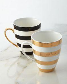 Aurora stripe mug (not microwave/dishwasher safe)