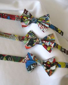 Comic Book Superhero Bow Tie by Dapper & Chic on Etsy, $13.50