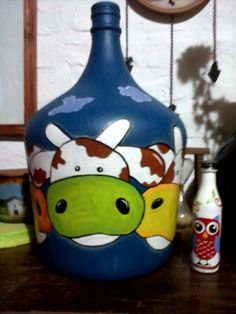 Bottle, Home Decor, Cow, Upcycling, Objects, Decoration Home, Room Decor, Flask, Home Interior Design