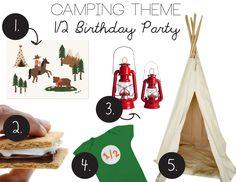 1/2 Birthday Camping Theme