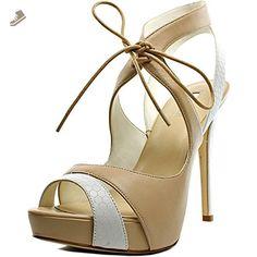 GUESS Hedday Platform Ankle Tie Sandals - Natural Multi, 10 US - Guess pumps for women (*Amazon Partner-Link)