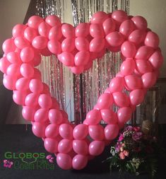 Balloon Frame, Love Balloon, Balloon Wall, Valentines Balloons, Valentines Day Decorations, Photo Balloons, Wall Backdrops, Backdrop Design, Balloon Decorations Party