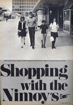 June 1968 : Going shopping with Spock Fuq dis cute.