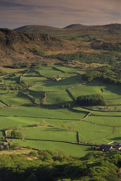 Eskdale Farm from Little Barrow, Lake District, Cumbria,UK