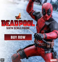 Cue The Music.  Hot Toys 1/6th Scale Deadpool Is Now Available To Order. http://side.sh/3n  #marvel #deadpool #hottoys #hottoyscollectors #chimifukkinchangas #chimichangas #deadpoolmovie #toys #toystagram
