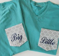 VNECK Sorority Big & Little Monogrammed Pocket T by HamiltonHall, $25.00