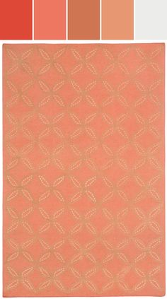 Tanjib rug in apricot  Designed By Capel Rugs via Stylyze