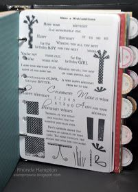 Stamp guide so you know what stamps you have. Stamp each stamp set on cardstock, label and put it alphabetical order