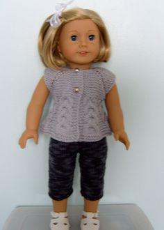 American Girl Doll. Top Down Sleeveless Cardi and Skinny Leggings Set PDF Knitting Pattern No 19. $4.00, via Etsy.