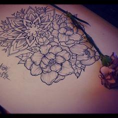 Fresh WTFDotworkTattoo Find Fresh from the Web Y cuando la noche se presta hermosa para diseñar.. #design #tattoo #ink #roses #peonys #mandala #dotline #dotwork #progress #blackart #tattooapprentice #Tucuman #Argentina #geometric #blackwork abbymoralest WTFDotWorkTattoo