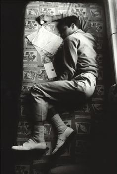 Anthony Perkins sleeping in between takes on the set of Psycho.