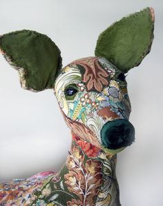 'Constance' textile doe by Bryony Jennings at Pretty Scruffy.