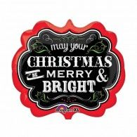 Buy Merry Christmas Chalkboard Foil Balloon from Tiger Feet Party. This large foil balloon is designed with the phrase 'May your Christmas be merry Disney Balloons, Mylar Balloons, Latex Balloons, Wholesale Party Supplies, Kids Party Supplies, Balloon Decorations Party, Christmas Party Decorations, Wedding Balloons, Birthday Balloons