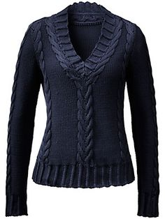 V-Pullover in Grobstrick (Ute Raasch) knitted Point Lace, Yarn Projects, Knit Fashion, Knitwear, Knit Crochet, Feminine, Stitch, Hoodies, Knitting