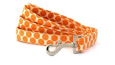 Bow Wow Couture - Fresh Dots in Tangerine Leash available at www.ZoePetSupply.com