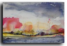 36x24 Large Original Landscape Painting on by studiomosaic on Etsy, $290.00