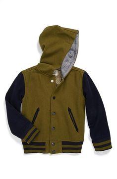 Peek Hooded Varsity Jacket (Toddler Boys, Little Boys & Big Boys) available at #Nordstrom