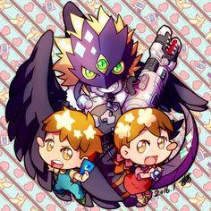 Pixiv Id 38231, Digimon Tamers, Ai (Digimon), Beelzemon, Mako (Digimon), Text: Calendar Date