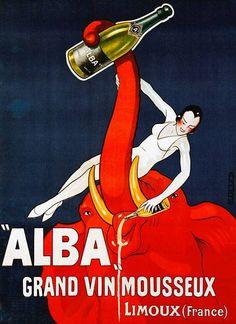 Alba Grand vin Mousseux | Retro advertising | Vintage poster