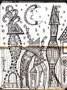 Doodle-house neighborhood.