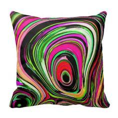Hippie 60's Throw Pillow #throwpillows #decorativethrowpillows #homedecorations  http://www.zazzle.com/hippie_60s_throw_pillow-189762045551340620?rf=238301761307787921