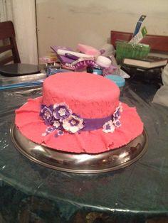 May 10/2014. Summer Bonnet Cake.  Strawberry cake w/strawberry filling.