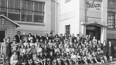 Gibson Guitar Factory in 1944