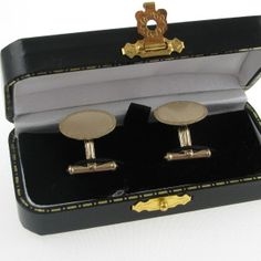 Gents Gold Cufflinks – Irish Made Irish Jewelry, Cufflink Set, Galway Ireland, Unique Vintage, Diamond Engagement Rings, Vintage Jewelry, Jewellery, Antiques, Room