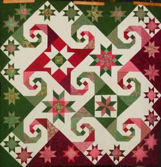 Snowflake tessellation by komplexify, via Flickr This is the first time I've seen this pattern done in colors I like!!