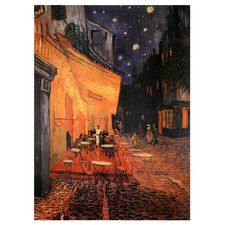 'Cafe Terrace on the Place Du Forum' by Vincent Van Gogh Painting Print on…