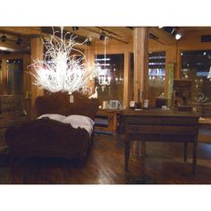 White Hickory Branch Chandelier: Collier West