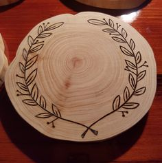 Wooden Coasters, Pyrography, Wood Burned, Wood Burned Art, Laurel Wreath Vector, Laurel Wreath, Pine Wood, Wooden Home Decor