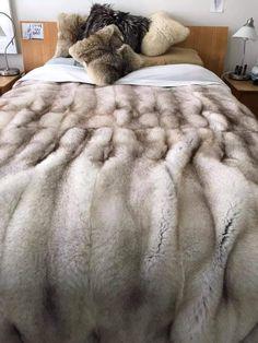 Fur Bedding, Fur Accessories, Fur Blanket, Arctic Fox, Fur Throw, Fox Fur Coat, Chic Clothing, Warm Blankets, Dream Bedroom