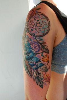 Mallory Johnstone - dreamcatcher tattoo