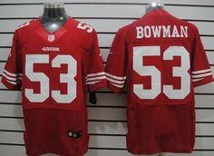 Nike San Francisco 49ers #53 Navorro Bowman Red Elite Jersey