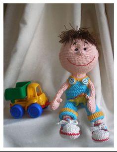 Crochet boy #natashuster knitted doll  amigurumi  crochet doll