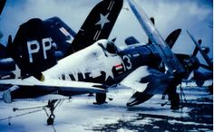 USN Vought F4U-4P of the VC-61 of the North Korean coast. Circa 1950-51