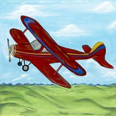 Rosenberry Rooms has everything imaginable for your child's room! Share the news and get $20 Off  your purchase! (*Minimum purchase required.) Red Jenny Vintage Airplane Art #rosenberryrooms